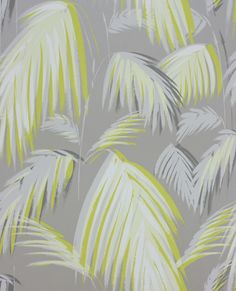 Tropicana Metallic Silver & Yellow wallpaper by Matthew Williamson