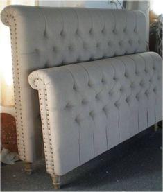 Bed Headboard Design, Bedroom Bed Design, Headboards For Beds, Master Bedroom, Sofa Design, Furniture Design, Bedroom Furniture, Bedroom Decor, Bedroom Ideas