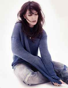 Daisy Lowe in a comfortable jumper