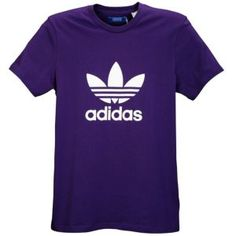 adidas Originals Trefoil S/S Logo T-Shirt - Men's - Sport Inspired - Clothing - Powder Purple/White