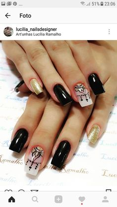 Alba For other models, you can visit the category. For more ideas, please visit our … Get Nails, Love Nails, Hair And Nails, Unicorn Nails, Toe Nail Designs, Beautiful Nail Designs, Black Nails, Nail Arts, Manicure And Pedicure