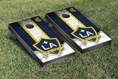 LA Galaxy Vintage Stripe Cornhole Tailgating Game