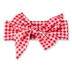 Toddler Girls' Gingham Check Bow Head Wrap Red OSFM - Cherokee® : Target