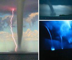 Waterspout Tornadoes in Water