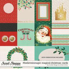 Disney Inspired digital scrapbooking #believeinmagic: Magical Christmas Cards by Amber Shaw & Studio Flergs