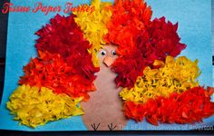 The REAL Housewives of Riverton: Tissue Paper Turkey Kid's Craft
