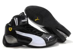 Puma Ferrari Shoes Four High-Top Black White