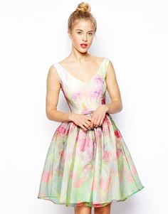 ASOS SALON Organza Floral Prom Dress  @Cassidy Haan  ????????????