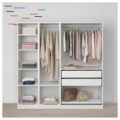 Walk In Closet Hacks Ikea Pax Wardrobe Ideas Ikea Pax Wardrobe, Ikea Closet, Diy Wardrobe, Bedroom Wardrobe, Wardrobe Ideas, Wardrobe Storage, Bedroom Closets, White Wardrobe, Attic Closet