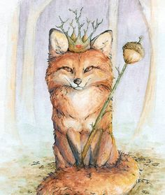 Fiona the Fox Queen - by Sarah Petkus of Fauna Queen on Etsy