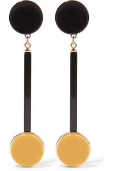 Marni | Gold-plated acrylic clip earrings | NET-A-PORTER.COM
