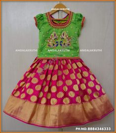 Kids lehenga designs by Angalakruthi boutique Bangalore Peacock designs for kids lehenga Benarsi weave Lehenga desings by Angalakruthi boutique Bangalore Tradational kids lehenga designs by Angalakruthi boutique Bangalore Custom designer lehenga for kids