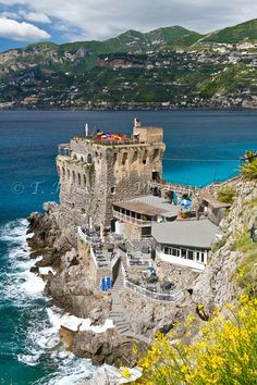 The Norman tower castle restaurant on the Amalfi Coast near Maiori, Italy!