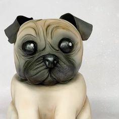 #pug #pugcake #puglife #petcake #realismcake #cakedesigner #cakeart #bedfordshire Pug Cake, Personalised Number Plates, Chocolate Cupcakes, Celebration Cakes, Cake Art, Beautiful Cakes, Pugs, French Bulldog, Animals