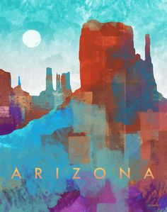Arizona Monument Wall Art Prints, Framed Prints, Canvas Prints, Primary Colors, Black And White, Pink Black, Photo Art, Latex, Arizona