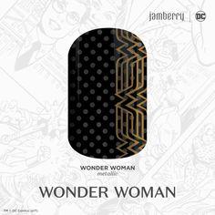Our Wonder Woman wraps are here in time for opening day!! kerriberry.jamberry.com #wonderwoman #sheiswonderwoman #dccomics #iamawarrior #justiceleague #wonderwomanmovie #cosplay #superhero #fashion #style #nails #8free