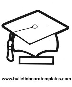 Phenomenal Graduation Cap Template – Coloring Page