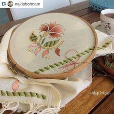 @nakisbohcam #needlework #needleembroidery #handwork #handmade #bordado #broderie #embroidery #ricamo Hand Work Embroidery, Beaded Embroidery, Cross Stitch Embroidery, Embroidery Patterns, Hand Work Design, Kerala Mural Painting, Fabric Wall Art, Gold Work, Bargello