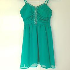 NEW LISTING✨TEAL PARTY DRESS Real party dress • Sequins • Size Small • Forever 21 Dresses