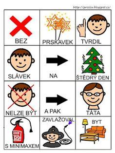 Pro Šíšu: Básničky i pro autíky Pictogram, Playing Cards, Education, Czech Republic, Playing Card Games, Learning, Cards, Game Cards, Playing Card
