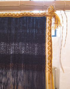 Here is a close up of the tablet woven starting border and edging.  A virtuoso piece of work. Bramsche Germany