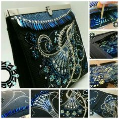 Winter garden, embroidered evening bag Making process Available: Etsy Tenderdecember shop