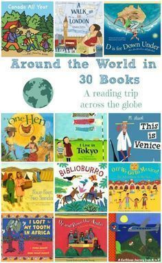 the World in 30 Books -- A Trip Across the Globe A fun way to travel the globe -- read about different countries & cultures around the world!A fun way to travel the globe -- read about different countries & cultures around the world! Good Books, Books To Read, My Books, Amazing Books, Material Didático, Teaching Social Studies, Teaching Culture, Teaching Themes, Teaching Kids