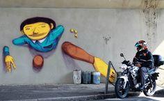 Street Art - Após remoção de grafites, Osgemeos fazem protesto em SP - 11/05/2013