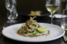 Crispy Fried Calamari from Royce Hotel Melbourne - dish Restaurant under the direction of Executive Chef Leigh Dundas Melbourne Accommodation, Hotel Meeting, Fried Calamari, Executive Chef, Royce, Restaurant, Dishes, Ethnic Recipes, Food