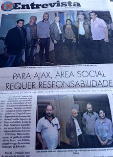 ÁJAX - NOTÍCIAS: DF ENTREVISTA EDGAR ÁJAX FILHO
