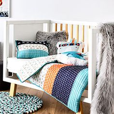 This fabulous Quilted Mischief Maker Quilt Cover Set by Adairs Kids brings colour, texture and warmth to your child's bedroom. The Quilted design provides additional warmth for those cooler nights and the fully reversible cover and pillowcases allows for different styling options.