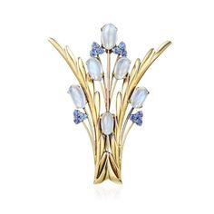 Tiffany & Co. Moonstone and Sapphire Brooch. Sold 2,250. USD. Invaluable is the world's largest marketplace for art, antiques, and collectibles.