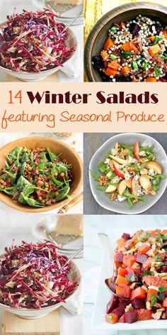 Fill you bowl with the winters best produce for these gorgeous salads #recipe #salad