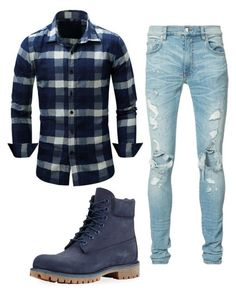 """#192"" by annavellucci on Polyvore featuring AMIRI, Timberland, men's fashion and menswear"