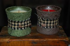 country  dollarstore candles  other primitive crafts