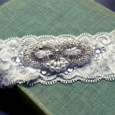 Make this beautiful glittery wedding garter or headband for $12!!