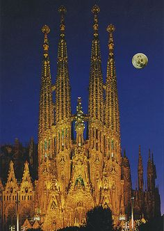 Sagrada Familia, Barcelona.I want to go see this place one day. Please check out my website Thanks. www.photopix.co.nz