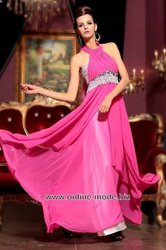 Neckholder Abend Kleid in Pink von www.online-mode.biz