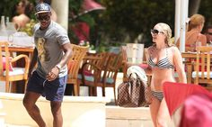Tottenham full-back Danny Rose relaxes on a beach while on holiday in Barbados.