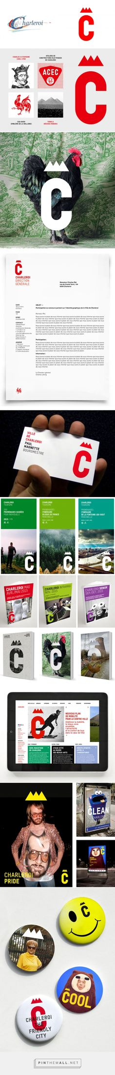 Brand New: New Logo and Identity for Charleroi by Pam et Jenny... - a grouped images picture - Pin Them All