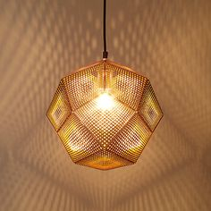 Buy Tom Dixon Etch Pendant, Copper Online at johnlewis.com