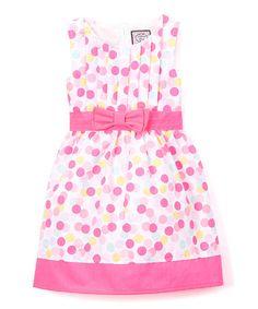 Look at this #zulilyfind! White A-Line Dress - Infant, Toddler & Girls #zulilyfinds