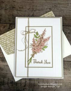 Stampin Up Lots of Lavender Thank You Card