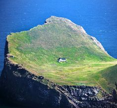Elliðaey island in archipelago off of the southern coast of Iceland called the Vestmannaeyjar. The cabin is a shelter and sauna for a local hunting association, which uses the cabin to hunt puffins on the island.