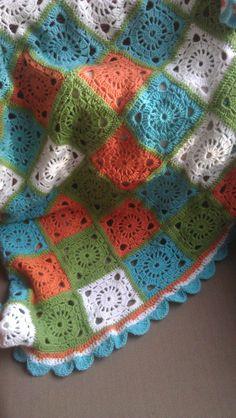 Crochet granny blanket, inspiration.