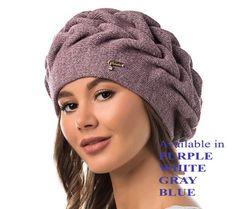 8abf646c2e3 WINTER WOMAN BRAIDED Beret Hat