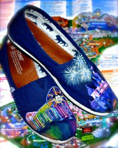 World of Color / Sleeping Beauty Castle hand painted TOMS for a stroll on the West Coast...