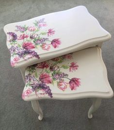 Chalk paint and napkins