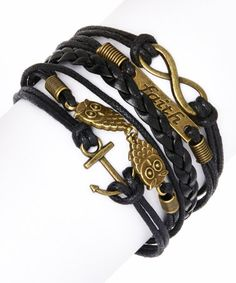 Another great find on #zulily! Black Love & Faith Braided Bracelet by Simply Reese #zulilyfinds