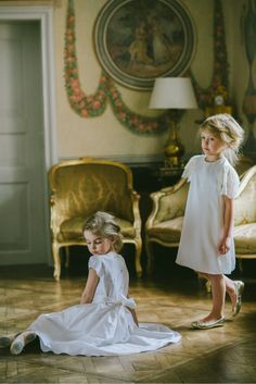 Colorlicious ss14 Styling: Santa Bindemane. Dress on the right in Peach for flower girl.